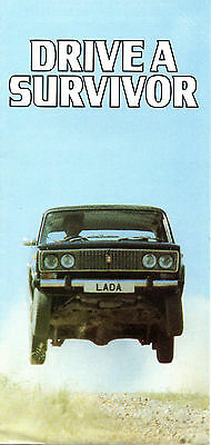 Lada Range 6 Sided Brochure 1980 In Excellent Condition (B08)