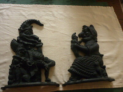 Punch And Judy ( Cast Iron ) Doorstops