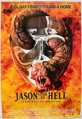 JASON GOES TO HELL - THE FINAL FRIDAY 13th (1993) Cinema One Sheet Movie Poster