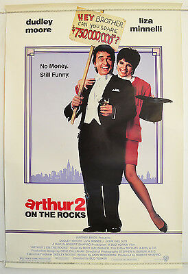 ARTHUR 2 ON THE ROCKS (1988) Original One Sheet Movie Poster - Dudley Moore