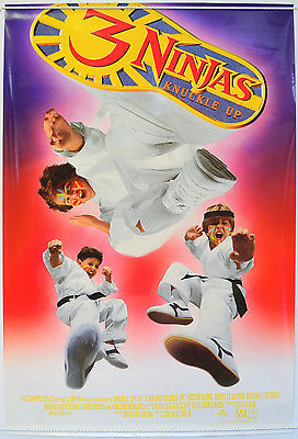 3 NINJAS KNUCKLE UP (1995) Original Cinema One Sheet Movie Poster - Victor Wong