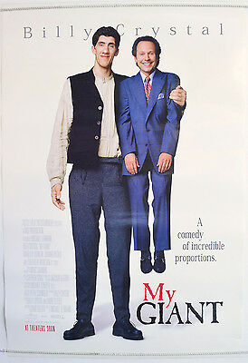 MY GIANT (1998) Cinema One Sheet Movie Poster - Billy Crystal, Gheorghe Muresan