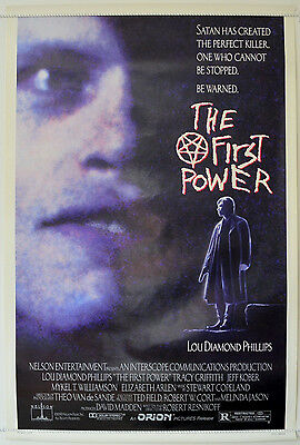 THE FIRST POWER (1990) Original One Sheet Movie Poster - Lou Diamond Phillips