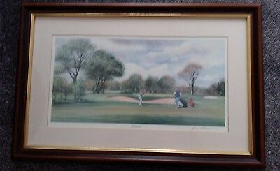 Sunday Golf By Terry Harrison Signed Framed Golf Print