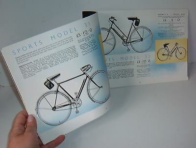 """** VINTAGE 1930s RALEIGH CYCLE CATALOGUE with PRICES 11"""" x 7"""" **"""