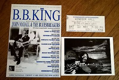 BB King Signed Postcard The Blues Hand Autographed by B.B. King