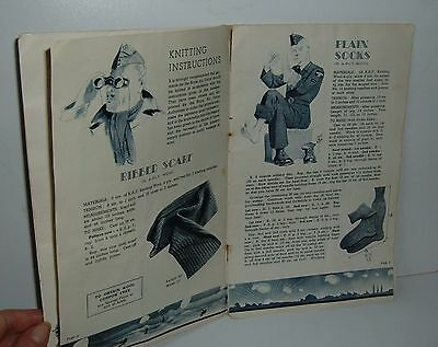 ** VINTAGE WW2 1940s RAF BOOKLET KNITTING FOR THE R.A.F **