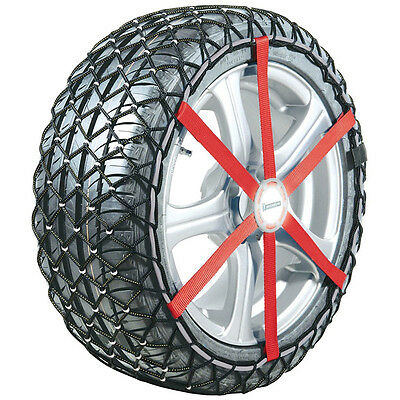 """New Michelin Easy Grip Composite Car Snow Chains R12 Fit 15"""" to 16"""" Tyre Sizes"""