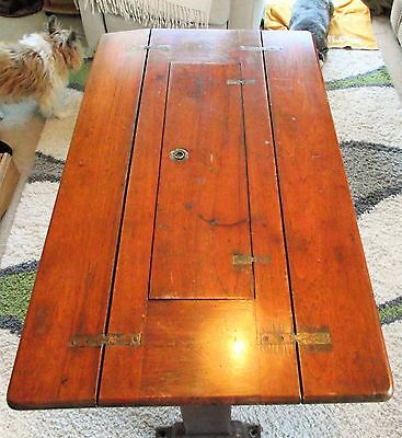 Antique maritime Captain's Pivot chart Desk  Table