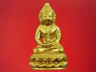 Phra Kring Wat Sutaht Temple, Brass Material, 1996 A.D., Genuine Thai Amulet