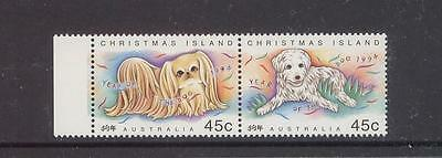 AUSTRALIA - CHRISTMAS ISLAND 1994 ,YEAR OF THE DOG, PAIR, MUH, (a43)