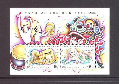 AUSTRALIA - CHRISTMAS ISLAND 1994 ,YEAR OF THE DOG, MS, MUH, (a42)