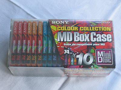 10 SONY MD 74 MINI DISCS & CASE -  NEW and SEALED