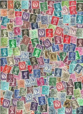 Great Britain QE II Collection of 1100 different perfin stamps.