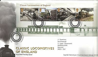 2011 Classic Locos Of England With Bureau Hand Stamp See  Scan