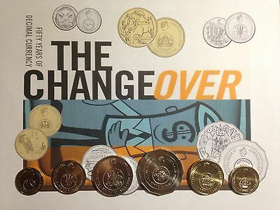 2016 - 50th Anniversary of Australian Decimal Currency aUNC Year Coin Set -loose