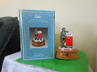 Limited Edition COCA COLA Musical EMMETT KELLY Figurine Box Certificate 1997