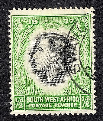 1937 South West Africa 0.5d Coronation SG 97 FINE USED R18580