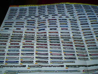 Huge Hornby Model Railways Toy Catalogue Undated Poster  Edition Vn Mint