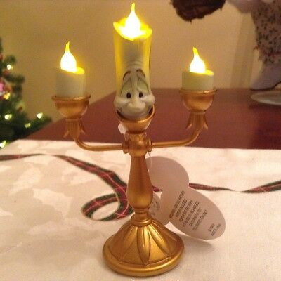 New Disney Parks Beauty And The Beast Lumiere Candle Light Up Ornament