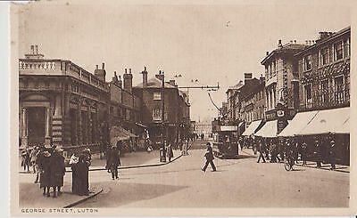 Luton  George Street (Includes Tram) Old Picture Postcard