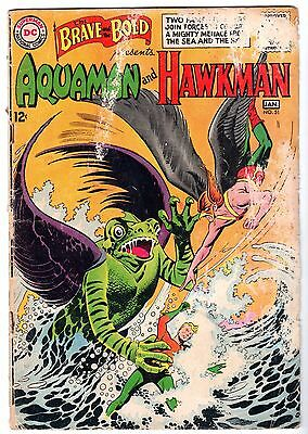 Brave and the Bold #51 Featuring Aquaman & Hawkman, Good Condition.