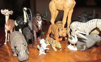 Britains early plastic zoo animal 15 +deadcamel + 27 Hong Kong animals (43 total