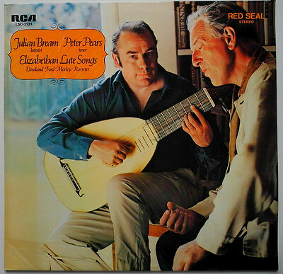 Lp De**julian Bream / Peter Pears - Elizabethan Lute Songs (Rca / Promo)***19649