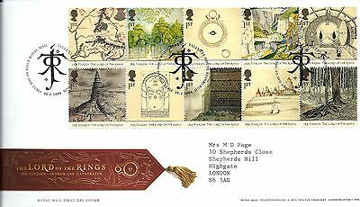 """2004 Lord Of The Rings """"bureau """" Hand Stamp See Scan"""