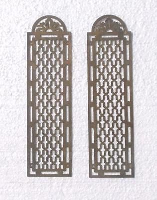Pair Vintage French Pierced Brass Door Finger Plates #MM6