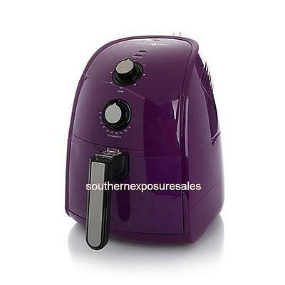 Simply Ming The Healthy Fry Ceramic Nonstick 1500-Watt Air Fryer Purple New