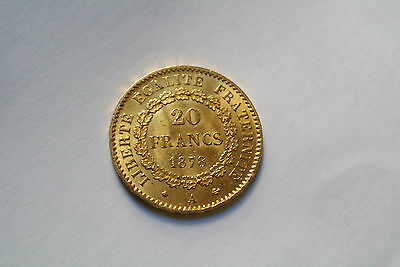 Superbe 20 Francs Or/ Gold Type Genie 1878 A