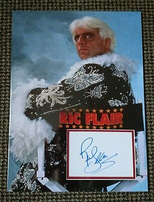 Ric Flair WWE WWF signed &  mounted 16x12 photo display AFTAL PROOF