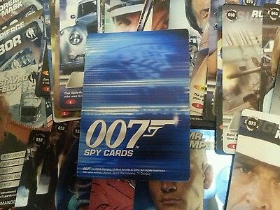 Lot of 77 007 Spy Cards Trading Cards (6 Rare and 71 Common Cards) VGC