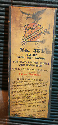 Vintage Clothing Box Perfecta No 35 M Steel Belt Lacing 8.25 Inches Long England