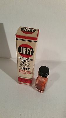 Vintage Advertising Medicine Health Beauty Jiffy Toothache Box and Bottle