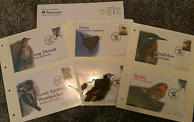 "Westminster stamps set 1st day of issue ""Birds"" Kingstown St Vincent 1997"