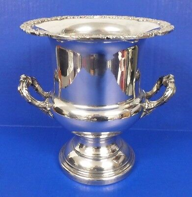Rare Georgian Period Silverplate Silver Plated Champagne Cooler Wine Bucket Urn