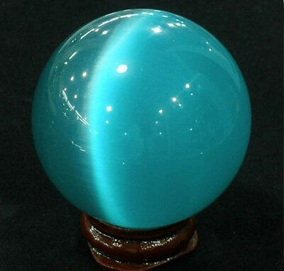 Hot 40mm Blue Opal Sphere Crystal Ball Gemstone + Stand