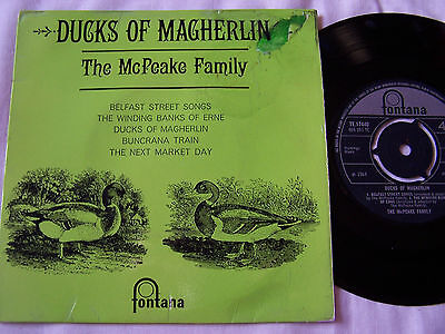 THE McPEAKE FAMILY - DUCKS OF MACHERLIN 5 TRACK EP PICTURE COVER