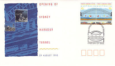 Australia 28 August 1992 Sydney Harbour Tunnel Official First Day Cover Shs