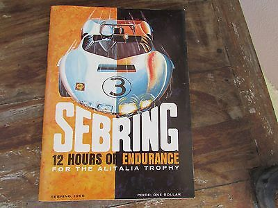 1966 12 Hours of Sebring race program vintage automotive ads 85 pages very good
