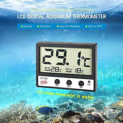LCD Digital Fish Tank Aquarium Thermometer Water Temperature Meter °C/°F R8Q8