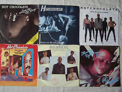 """Joblot Of Hot Chocolate 7"""" Singles X 6 - All Excellent"""