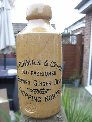 Hitchman & Co Limd Old Fashioned Brewed Ginger Beer Chipping Norton