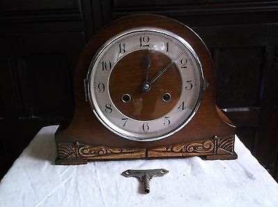 A Beautiful Mantle Clock  With  Gong