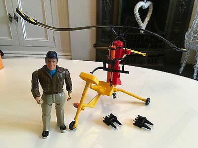 The A Team Vintage 1980s Galoob Team Attack Gyrocopter And Murdock Figure Rare