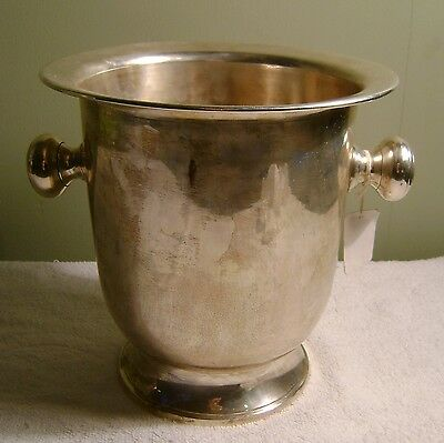 """9"""" Vintage Silver Plated Champagne Ice Bucket AMC"""