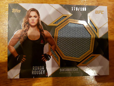 2016 Ufc Top Of The Class Toc Relic Ronda Rousey Tcr-Rr #179/199