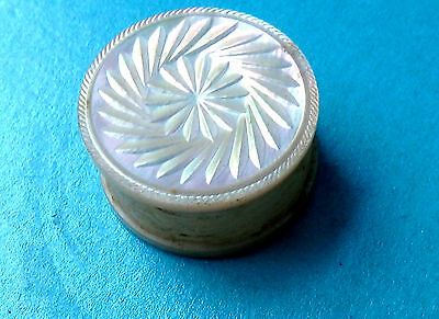 Antique Mother Of Pearl Sided Carved Design Sewing Thread Waxer